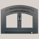 Classic Arch FaceBlack Painted Finish Black Double Doors