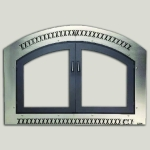 Classic Arch FaceNickel Finish Black Double Doors