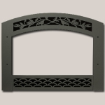 French Country Face Black Painted Finish