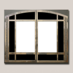Classic Arch Door Onlay Antique Bronze Finish