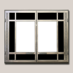 Artisan REctangular Door Onlay Antaque Nickel Finish