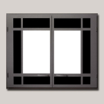 Architectural Rectangular Doubl eDoor Black Painted Finish
