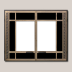 Classic Rectangular Door Onlay Antique Bronze Finish