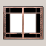 Arts and Crafts Rectangular Door Onlay Antique Copper Finish