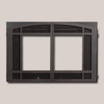 Architectural Arched Double Door - Black Painted Finish Frame