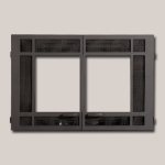 Architectural Rectangular Double Door - Black Painted Finish Frame
