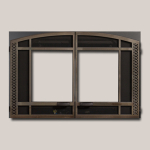 Architectural Arched Double Door - Antique Nickel Finish
