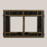 Classic Rectangular Double Door Onlay - Antique Bronze Finish
