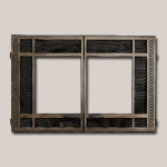 Artisan Rectangular Double Door Onlay - Antique Nickel Finish