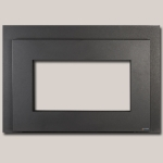 Shadow Box Black Metallic Painted Finish