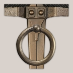 Bronze Finish Lodge Ring Handle, Only for Iron Works Face