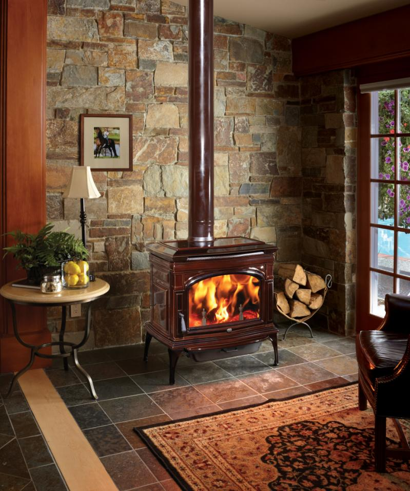 CAST Iron Cape Cod Brown Fireplace