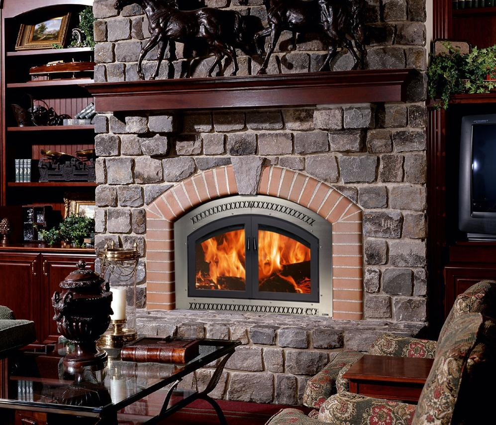 Elite Classic Nickel Fireplace
