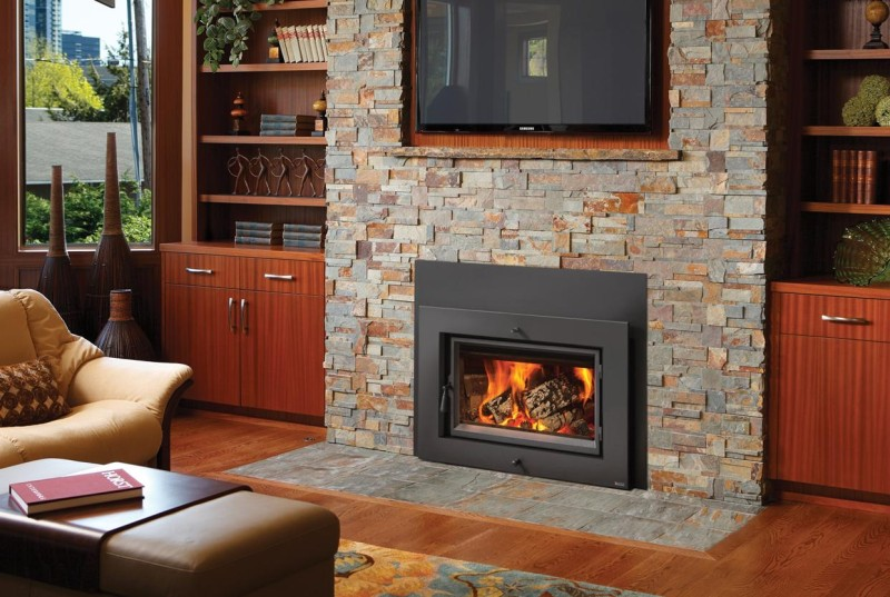 Large Flush Wood Hybrid Fyre Wood Insert The Fireplace
