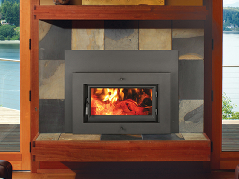 amazing contemporary wood fireplace insert #5: 33 Elite Plus Rectangular Wood Insert