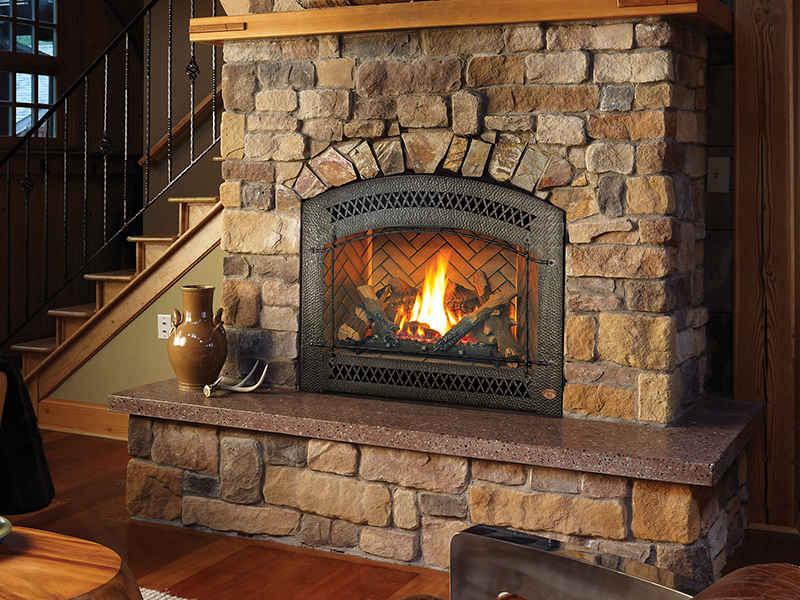 products insert fire gas quadra fireplace