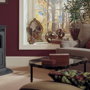 Metal stand alone fireplace