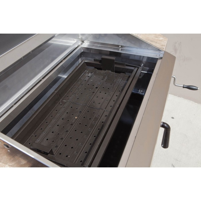 Turbo Stainless Steel Built In Charcoal Grill The