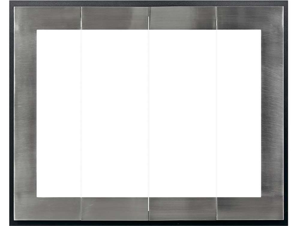 Moderne Glass Zero Clearance Fireplace Door The Fireplace Place