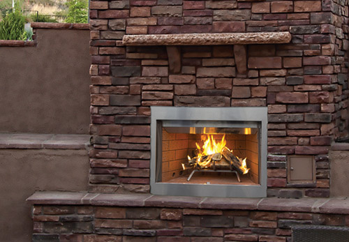 Superior outdoor wood burning fireplace wre3000 for Prefab outdoor fireplaces