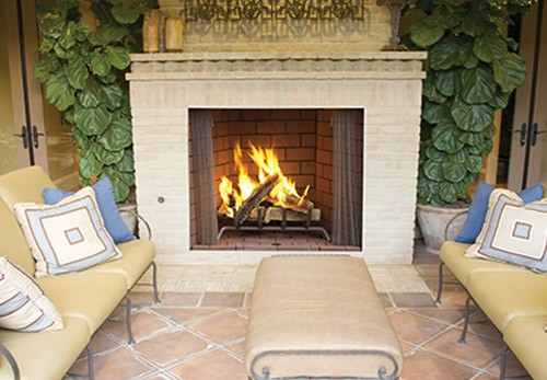 Superior Outdoor Wood Burning Fireplace WRE4500 - High Efficiency Wood Fireplace Inserts