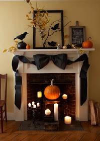 Edgar Allen Poe Raven Fireplace Decoration