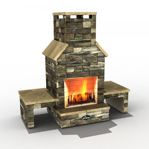 Outdoor Masonry fire place