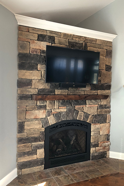full service fireplace project