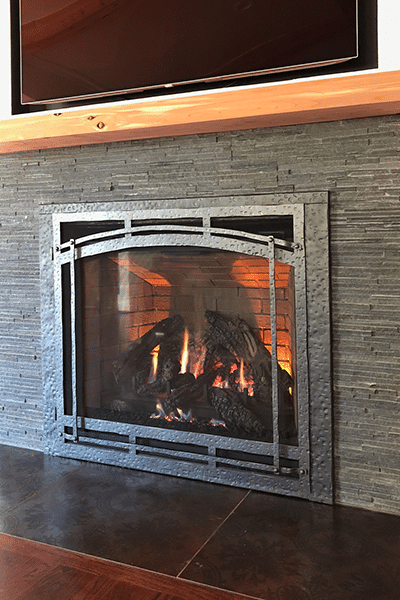 direct vent custom fireplace