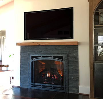 custom direct vent fireplace