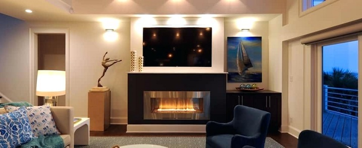 hang tv over fireplace