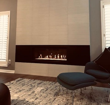 Custom Linear Fireplace