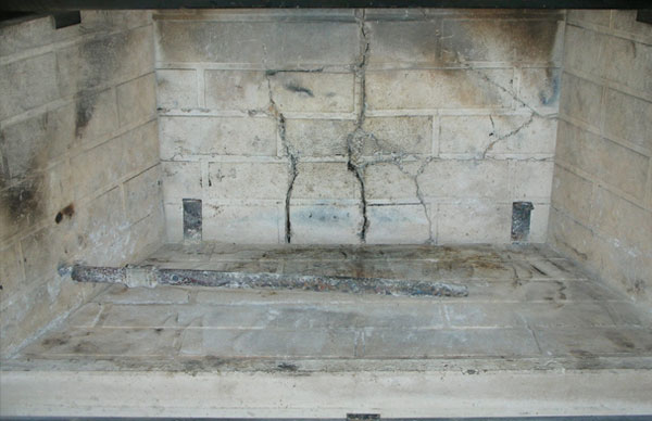 replace fireplace refractory
