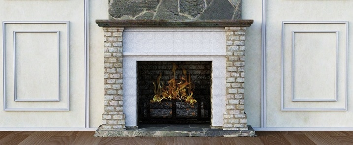 tile fireplace makeover