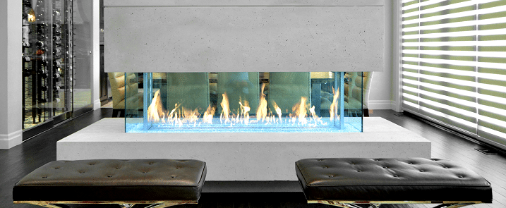 commercial fireplace styles