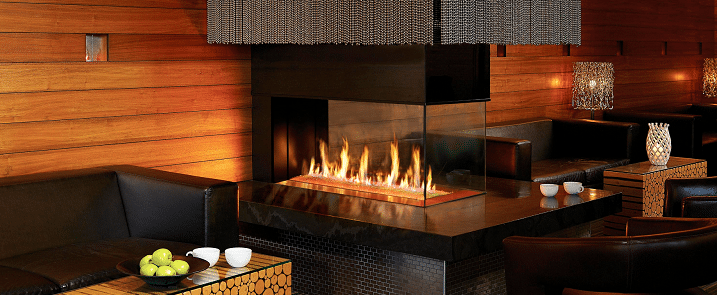 different types of gas fireplaces
