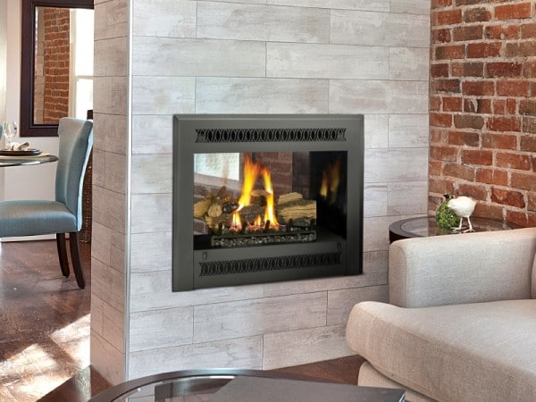 direct vent fireplace for zone heating